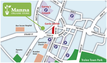 map of Manna Store