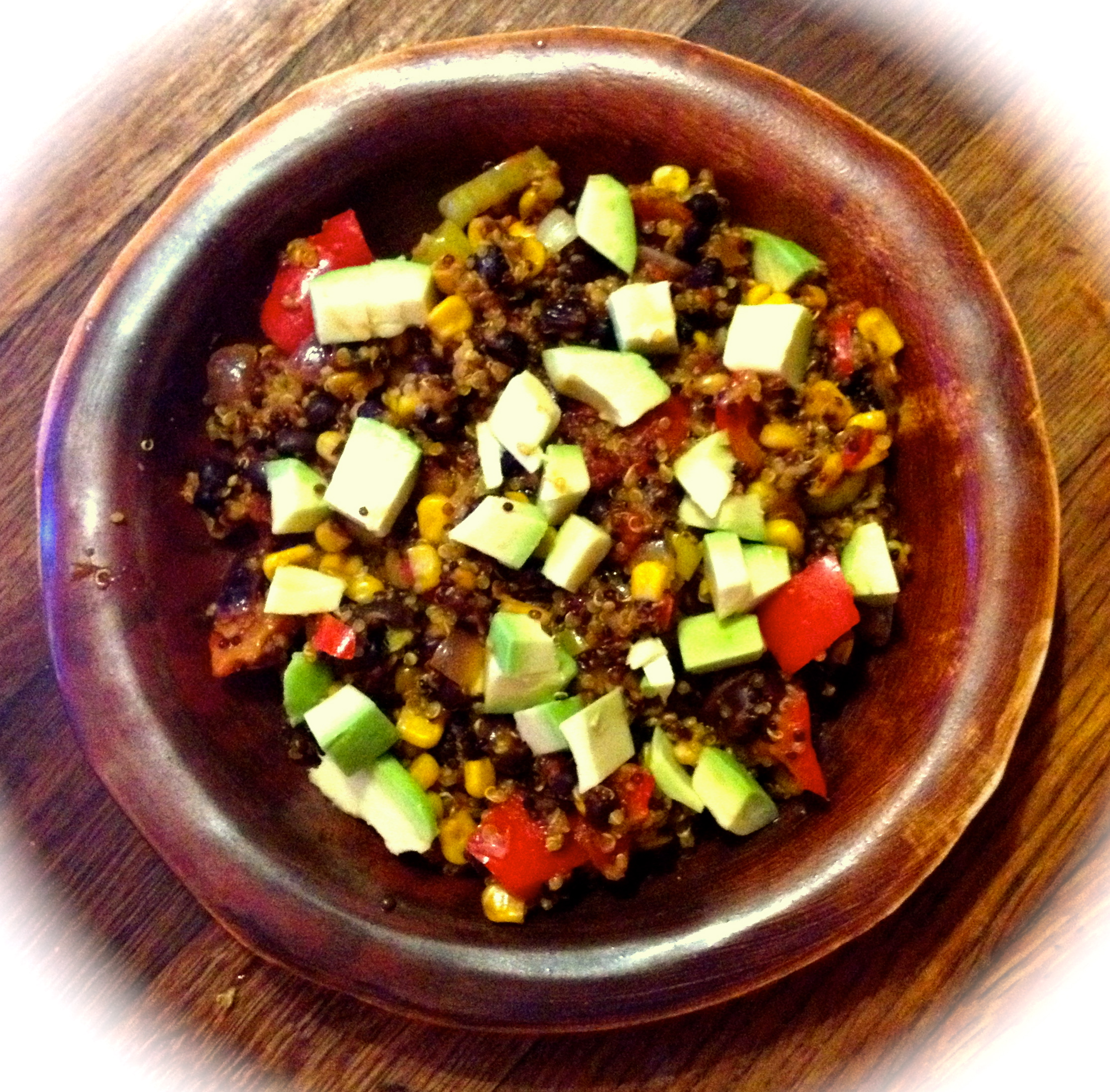 Spicy Quinoa with Avocado